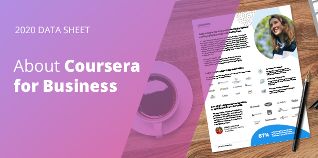 2020 Data Sheet – About Coursera for Business