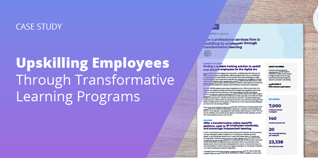 KPMG: Upskilling Employees Through Transformative Learning